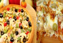 Tasty Chicken Pizza without oven