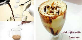 Delicious Cold Coffee with Ice Cream and Nuts