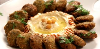 Middle Eastern delicious Falafel and Hummus