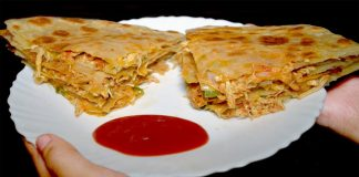 Pizza Paratha for Kids Lunch Box