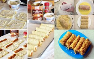 Bread Rolls with Chicken and Cheese