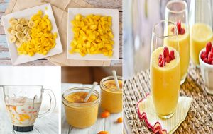 refreshing and healthy mango smoothie