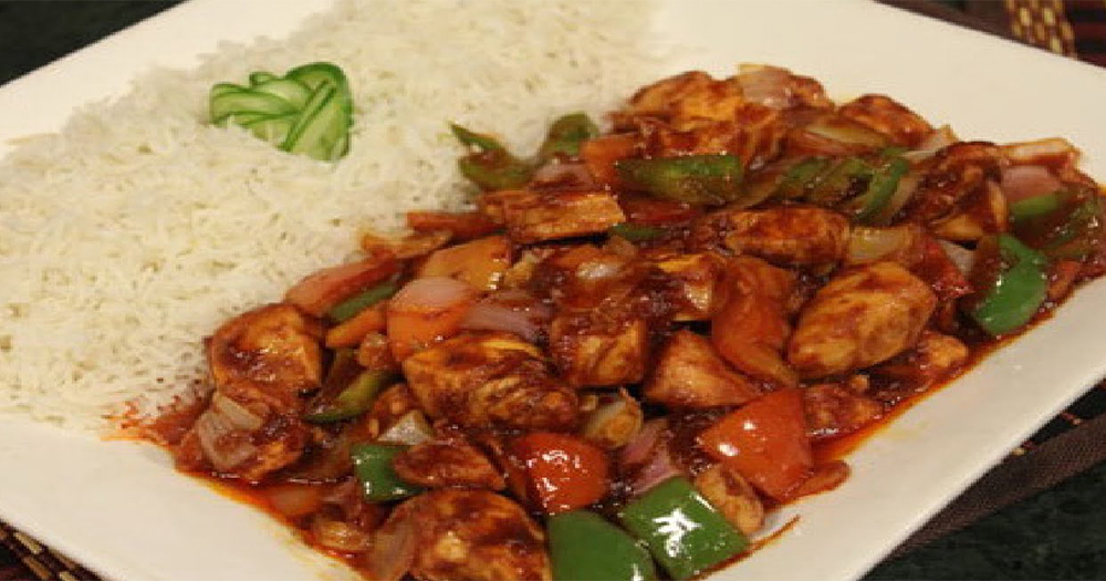 How To Make Chinese Chicken Shashlik With Gravy At Home