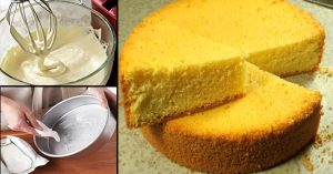 Basic Plain and Soft Sponge cake without an oven