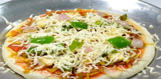 Cheesy Tawa Pizza without oven and microwave