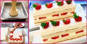 How to make Delicious Japanese Strawberry Shortcake for birthday