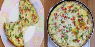 Delicious Cheesy Egg Pizza without Oven