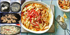 An Amazing recipe to make Restaurant Style Chicken Baked Pasta