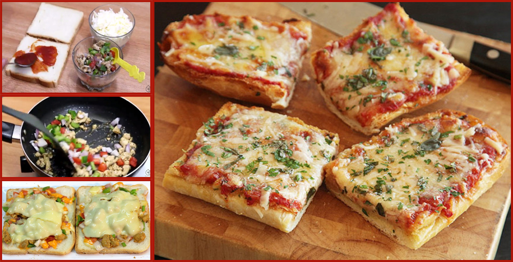 Easy Recipe For Delicious Bread Pizza Without Oven