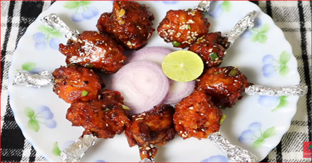 How To Make Delicious Indian Snack Chicken Lollipop At Home