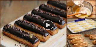 Bakery Style Chocolate Eclairs Recipe At Home