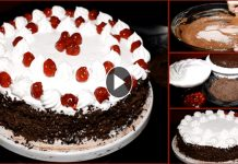 Black Forest Chocolate Cake Recipe without Oven