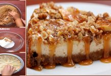 Delicious Caramel Apple Crisp Cheesecake with Easy Rice