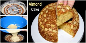 Dry Almond Cake without Oven