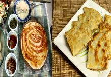 Easy Cheese & Vegetable Stuffed Pizza Paratha recipe