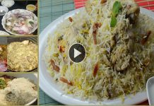 Tasty & Spicy White chicken Biryani step by step recipe
