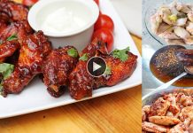 Barbecue Chicken Wings in Restaurant Style