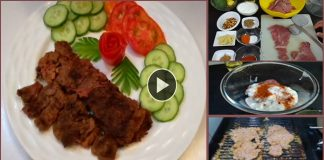 How to make Grilled Beef Pasanday with step by step recipe