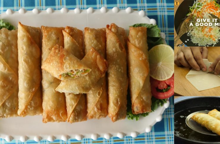 How to make Chinese Chicken Spring Rolls at home