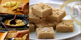 How to make Delicious Apple coconut Barfi at Home