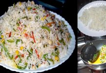 How to make Delicious vegetable Chinese fried rice