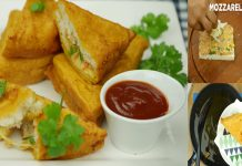How to make Fried Bread Pakora with Cheese at home