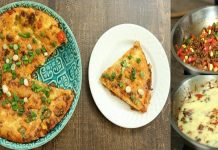 How to make Mexican Fajita Pizza for Breakfast with easy recipe