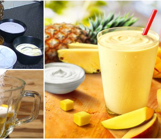 How to make Pineapple and mango smoothie juice