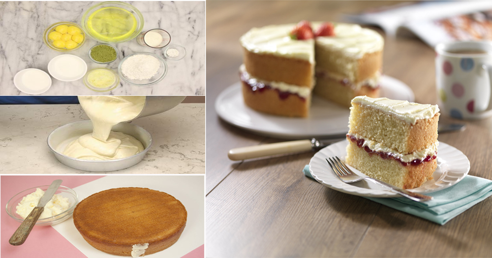 How to make Simplest Sponge Cake Recipe without oven
