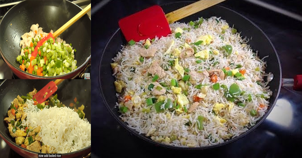 How to make spicy chicken fried rice in pakistani style ccuart Images