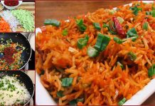 An Easy Recipe to make Delicious Schezwan Fried Rice at home