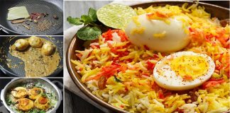 How to make Delicious Spicy Egg Biryani at Home