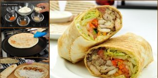 How to make Special Chicken Paratha Roll At Home