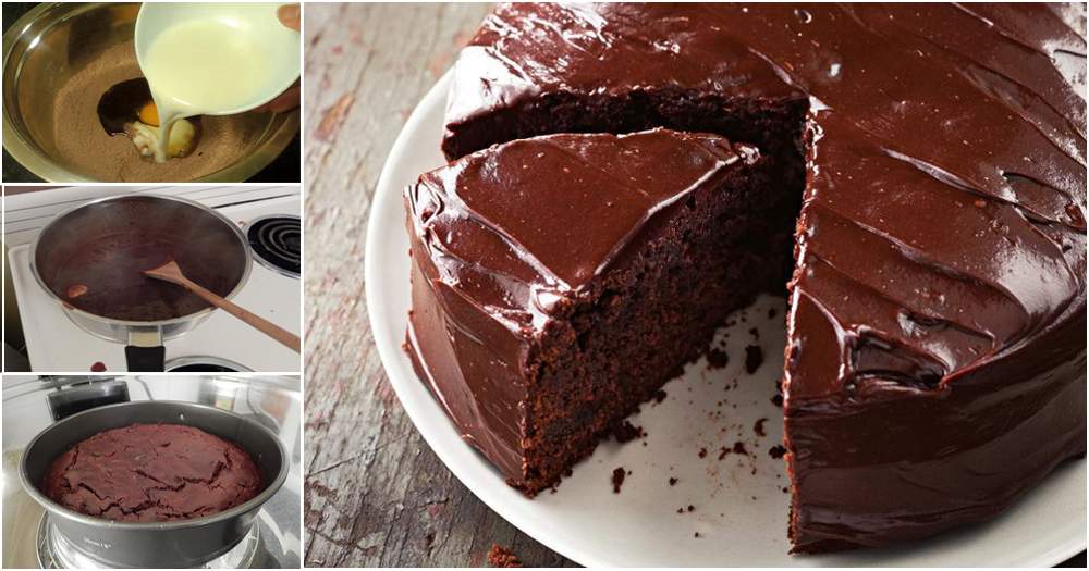 how to make yummy chocolate cake without an oven at home