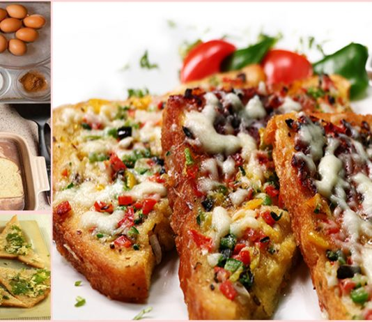 How to Make Indian Style Cheesy Egg Toast for Breakfast