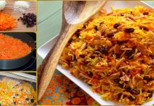 How to Make Pakistani Yellow Sweet Rice with Carrot and Raisins