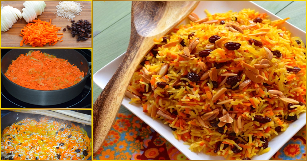How to Make Pakistani Yellow Sweet Rice with Carrot and ...