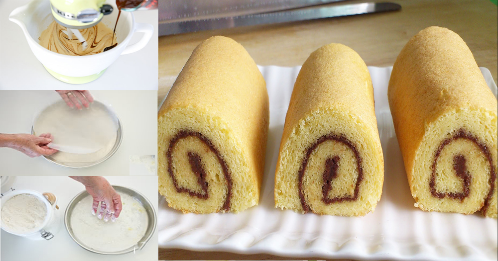How To Make A Quick And Easy Vanilla Swiss Roll Cake Recipe