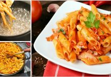 How to make Creamy Pasta in Red and White Sauce at Home