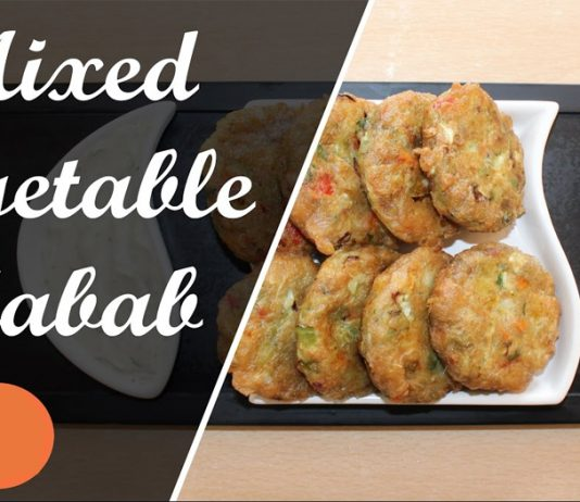 An Easy Recipe to Make Soft & Crunchy Mix Vegetable Kabab