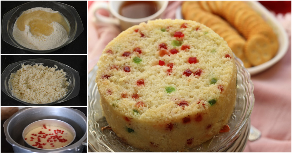 Indian Eggless Rava Cake Recipe