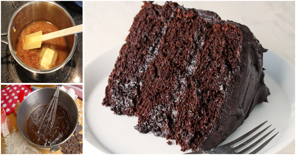 An easy way to make classic chocolate cake recipe for Easy method of making cake