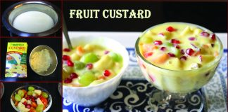 Healthy and Delicious Fruit Custard Dessert Made With Seasonal Fruits