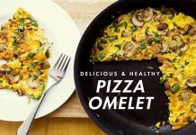 How to make Cheesy Omelette Pizza Recipe at Home