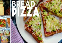 Make Super Quick Bread Pizza Recipe at Home on Tava