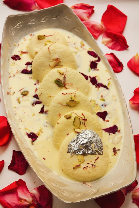 Soft Rasmalai at Home