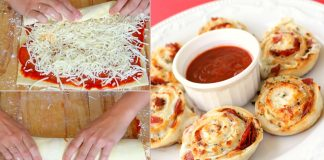 Quick recipe to make pin wheel pizza rolls at home